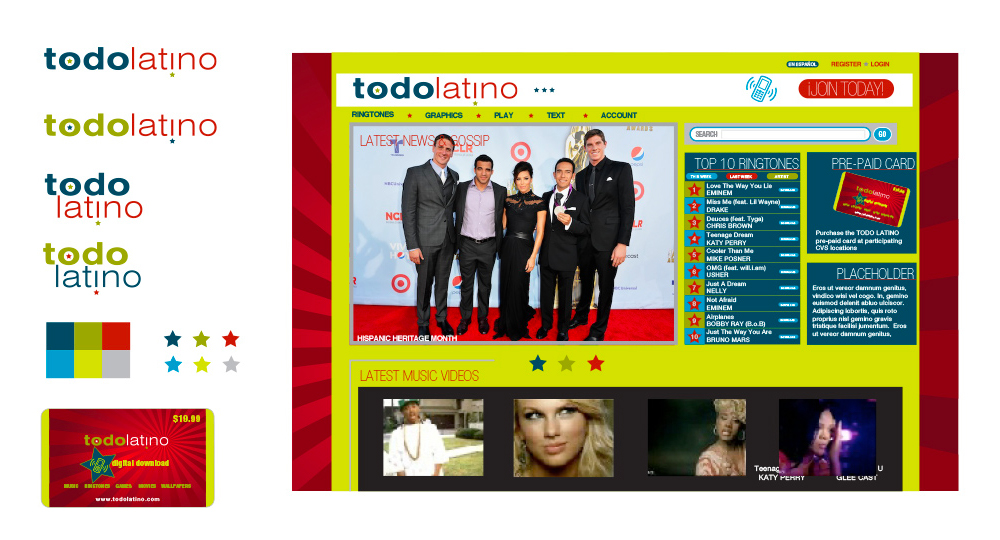 Todo Latino identity package designed by Terese Newman
